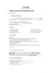 English Worksheet: YOU LEARN by Alanis Morissette