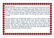 English Worksheets: Harvest festival