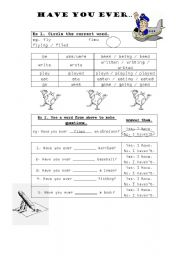 English Worksheets: Have you ever ...