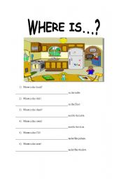 English Worksheets: Where is...