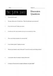 English Worksheets: The Sixth Sense