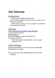 English Worksheets: Job Interview