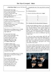 English Worksheet: The Beatles and Liverpool