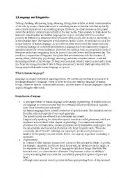 English Worksheets: linguistics