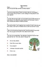 English Worksheet: paragraph-main idea
