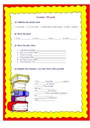 English Worksheet: Grammar 5th grade review