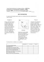 English Worksheets: Reading Activity - Greetings