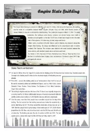 English Worksheet: The Empire State Building