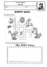 English Worksheets: Super Pets