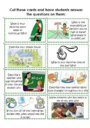 English Worksheet: Conversation Cards 7 of 8
