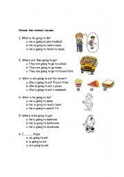 English worksheet: Future Simple Tense