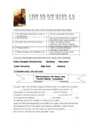 English Worksheets: Live or Die Hard-action movie