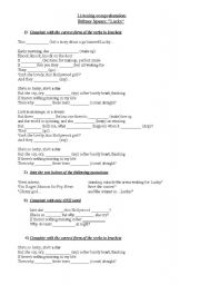 English Worksheet: Listening Comprehension - Britney Spears: