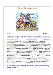 English Worksheet: Describe a picture