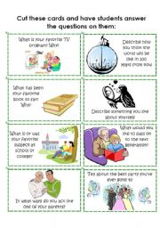 English Worksheets: Conversation Cards 6 of 8
