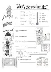 English Worksheet: What´s the weather like?