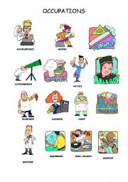 English Worksheets: OCCUPATIONS A-D