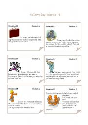 English Worksheets: Role-play cards Set 4