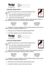 The Devil Wears Prada - worksheet by ricardo