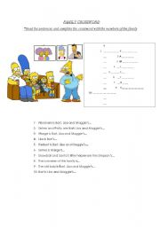 English Worksheet: Family Crossword