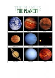 English Worksheet: THE PLANETS
