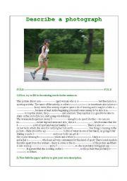 English Worksheets: Describe a photograph