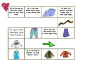 English Worksheet: CLOTHES BOARD GAME- INTERMEDIATE