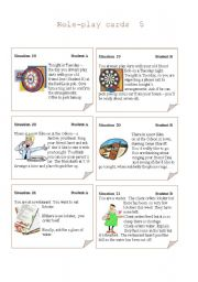 English Worksheets: Role-play Cards  Set 5