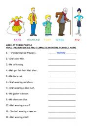 thumb805242344265273 Clothes Worksheet Pinterest on printable esl, kindergarten esl, preschool matching, preschool winter, summer winter,
