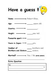 English Worksheets: Intro worksheet