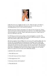 English Worksheets: The life of Lady Diana