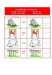 playground checklist level elementary age 7 8 downloads 23 playground