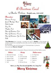 English teaching worksheets: A Christmas Carol