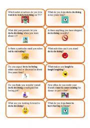 english worksheet verb patterns question cards 1. Black Bedroom Furniture Sets. Home Design Ideas