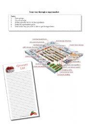 English Worksheet: Your way through a supermarket