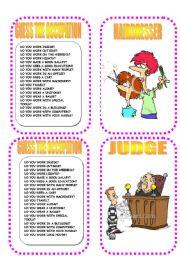 English Worksheet: CARD THREE OCCUPATION GAME