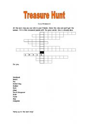 English Worksheet: Treasure Hunt (Part 2)
