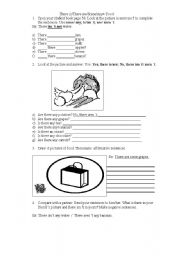 English Worksheet: There is -There are-Some-Any- Food