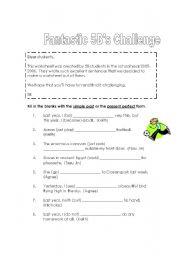 English Worksheets: Fantastic Challenge