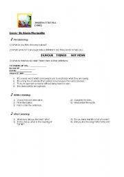 English Worksheet: Ironic (A. Morissette)