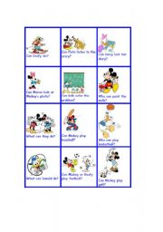 English Worksheets: can can�t with disney characters III