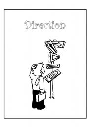 English Worksheets: front cover for direction