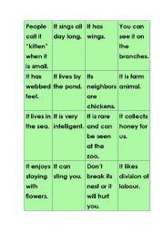 English Worksheets: animal uno(6}