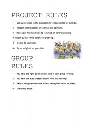 English Worksheets: clasroom rules