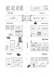 english worksheet giving directions map