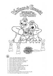 English Worksheets: Wallace and Gromit �The Curse of the Were-Rabbit�