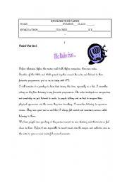 English Worksheets: Media reading comprehension exercise