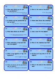 English Worksheets: Extensive reading �Maisie and the Dolphin� � set 2