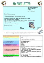 English Worksheets: INTRODUTION TO LETTER WRITING