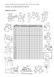 English Worksheets: Can2